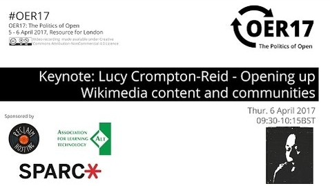 Thumbnail for entry OER17 Keynote: Lucy Crompton-Reid - Opening up Wikimedia content and communities