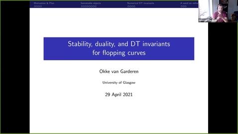 Thumbnail for entry LAGOON: Leicester Algebra and Geometry Open ONline: Okke van Garderen
