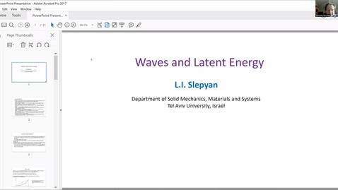 Thumbnail for entry Wave Scattering and Solid Mechanics - Leonid Slepyan, Tel Aviv University