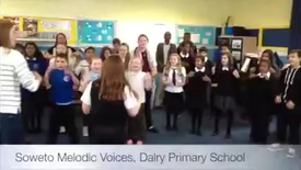 Thumbnail for entry Soweto Melodic Voices Visit Dalry Primary School