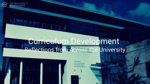 Thumbnail for entry Curriculum Development Reflections (Rhind)