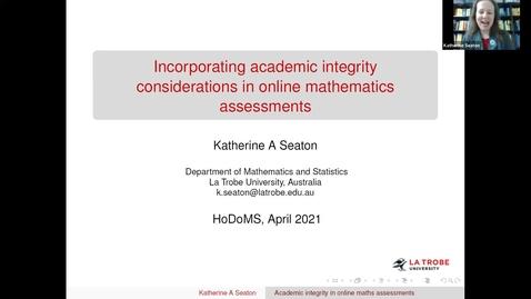 Thumbnail for entry HoDoMS 2021: Katherine Seaton