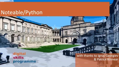Thumbnail for entry Andrew Kirk - University of Edinburgh, Digital Skills Programme