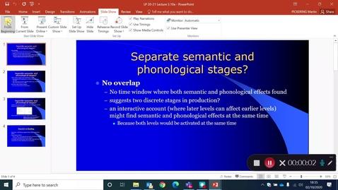 Thumbnail for entry Language Production Lecture 3 Part 10a