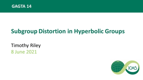 Thumbnail for entry Timothy Riley: Subgroup Distortion in Hyperbolic Groups