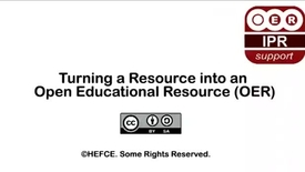 Thumbnail for entry Turning a Resource into an Open Educational Resource