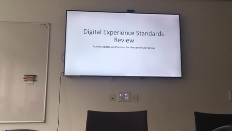 Thumbnail for entry Digital Experience Standards User Group Briefing 1