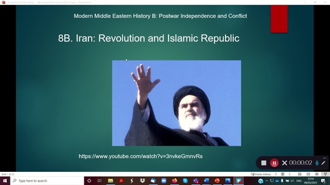 Thumbnail for entry 8B The Iranian Revolution part 1