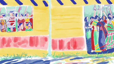 Thumbnail for entry The Red and Gold Pen - An illustrated short story