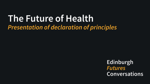 Thumbnail for entry Presentation of declaration of principles
