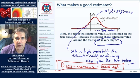 Thumbnail for entry Topic 43: Measuring Performance of an Estimator (PETARS, Chapter 6)