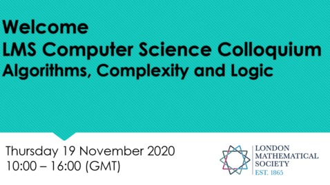 Thumbnail for entry LMS Computer Science Colloquium - Kitty Meeks (Glasgow)