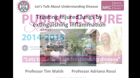 Thumbnail for entry Treating injured lungs by extinguishing inflammation