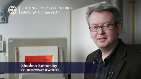 Thumbnail for entry Stephen Bottomley -Contemporary Jewellery - Research In A Nutshell-Edinburgh College of Art-19/10/2012