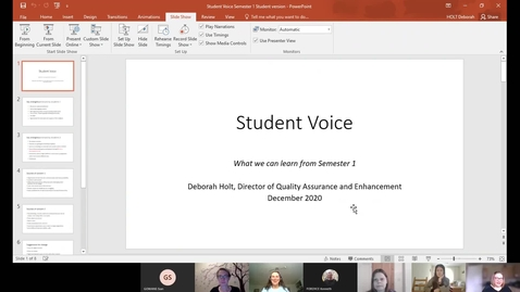 Thumbnail for entry Student Voice, Social and Community Building Jan 2021 (CC)