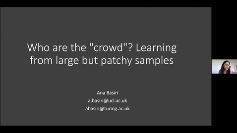 Thumbnail for entry Research and teachingin statistical data sciences seminar A Basiri