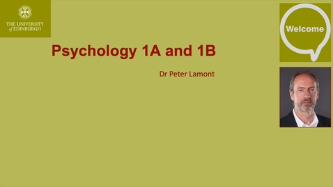 Thumbnail for entry Psychology 1A and 1B