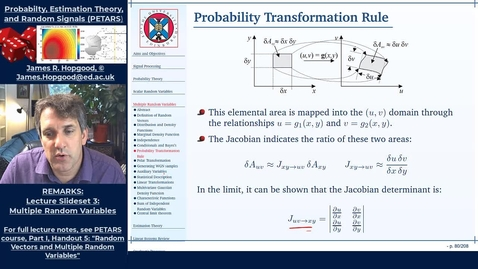 Thumbnail for entry Topic 31: Probability Transformation Rule for Random Vectors (PETARS, Chapter 5)