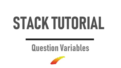 Thumbnail for entry Question Variables - STACK Tutorial