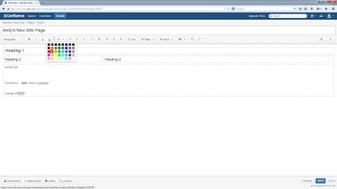 Thumbnail for entry Confluence Wiki V5 Tutorial: Creating a new page and basic text formatting