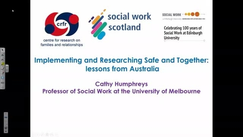 Thumbnail for entry Implementing and Researching Safe and Together: lessons from Australia