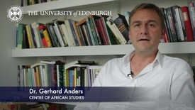 Thumbnail for entry Gerhard Anders -Centre of African Studies -Research In A Nutshell- School of Social and Political Science-18/07/2012