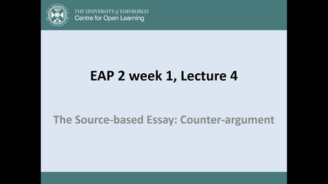 Thumbnail for entry Argument and Counter Argument