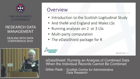 Thumbnail for entry Running an analysis of combined data when the individual records cannot be combined.