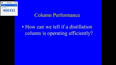Thumbnail for entry Distillation Lecture 1 2020 part 2