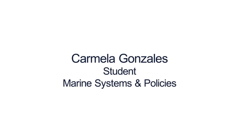 Thumbnail for entry Hear from our students:  MSc Marine Systems and Policies