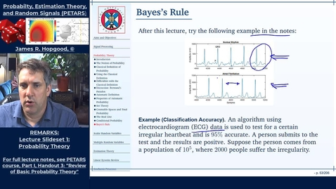 Thumbnail for entry Topic 17:  Conditional Probability and Bayes Rule (PETARS, Chapter 3)