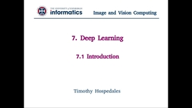 Thumbnail for entry 7.1 Deep Learning - Introduction