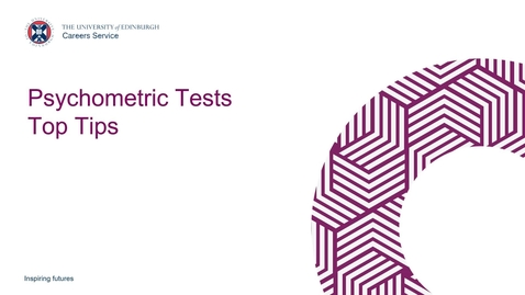 Thumbnail for entry Psychometric Tests Top Tips