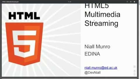 Thumbnail for entry [EDINA Labs] HTML5 Multimedia Streaming