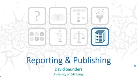 Thumbnail for entry Reporting & Publishing - Dave Saunders