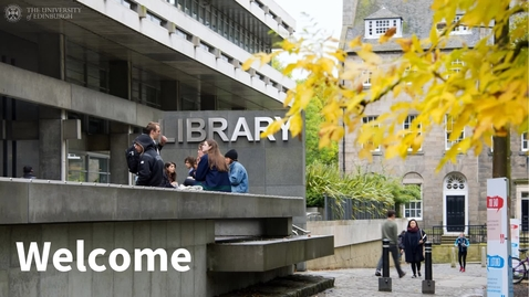 Thumbnail for entry Visiting University of Edinburgh Libraries