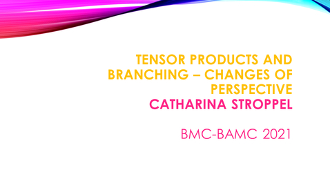 Thumbnail for entry BMC BAMC 2021 Catharina Stroppel