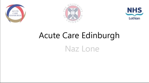 Thumbnail for entry Nazir Lone ACE lecture 22nd July2019