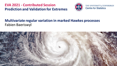 Thumbnail for entry Prediction and Validation for Extremes: Fabien Baeriswyl