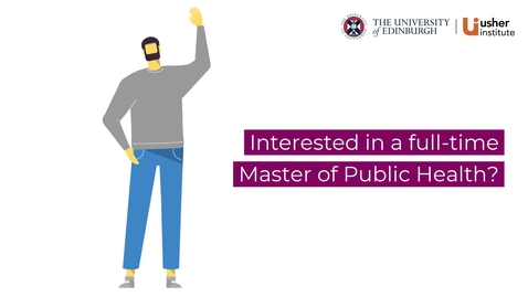 Thumbnail for entry Reasons to choose our full-time Master of Public Health