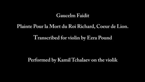 Thumbnail for entry Plainte pour la Mort du Roi Richard, Coeur de Lion