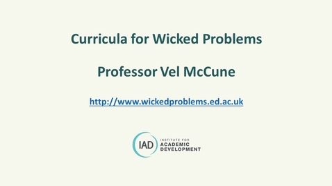Thumbnail for entry Curricula for Wicked Problems July 2021