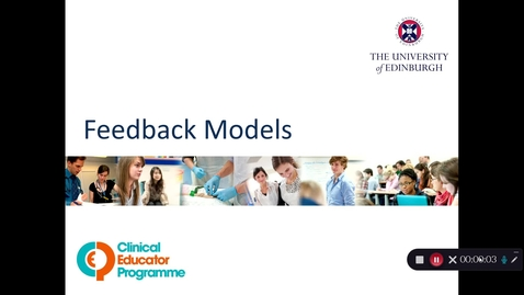 Thumbnail for entry CEP Giving Effective Feedback course: feedback models