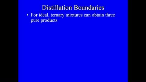 Thumbnail for entry Distillation Lecture 9 - Distillation Boundaries