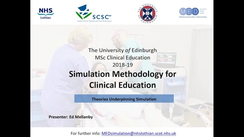 Thumbnail for entry Theories Underpinning Simulation Presentation