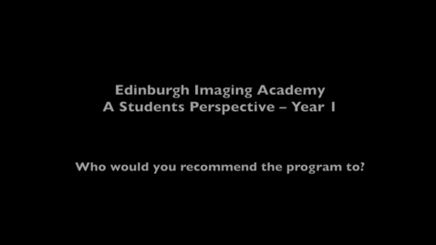 Thumbnail for entry Aldo, Imaging MSc online student - Why study online