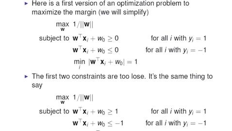 Thumbnail for entry Optimising the Margin 1