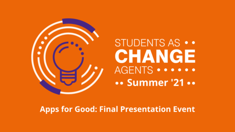 Thumbnail for entry Apps for Good - Final Event Presentation