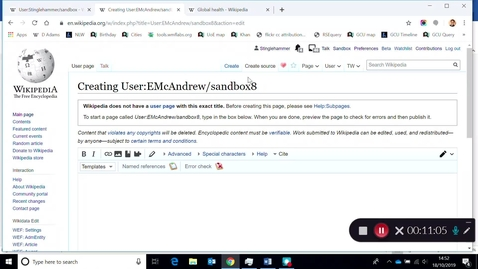 Thumbnail for entry How to create multiple sandboxes/personal draft spaces on Wikipedia