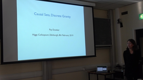 Thumbnail for entry Causal Sets, Discrete Gravity - Fay Dowker